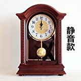 y-hui la reloj de base de madera maciza Salón Gran Reloj relojes Reloj Escritorio muet péndulo cuarzo, apertura 10pulgadas, 225