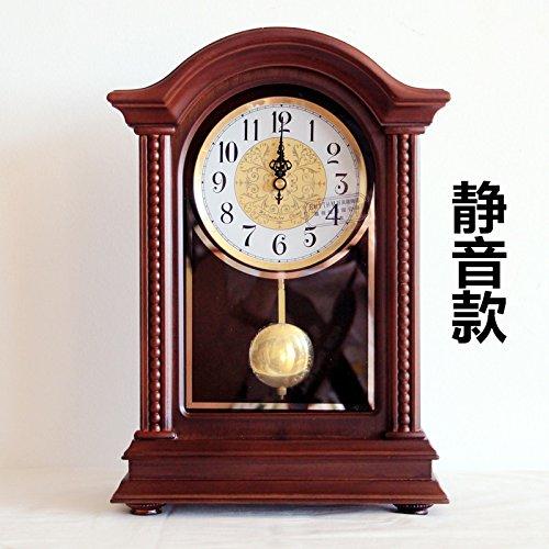 Y-Hui Massivholz Base Clock Wohnzimmer Uhren Große Uhr Mute Schreibtisch Uhrzeit Quarz Pendel Teil, 10-Zoll des Verbindungskabels (Standuhr Teile Pendel)