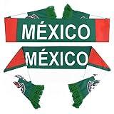 PENVEAT Russia World Cup 2018squadre di calcio sciarpa sciarpa squadre di calcio fan sciarpa squadra nazionale Messico calcio bandierine, Messico