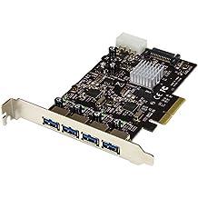 StarTech.com Tarjeta PCI Express de 4 Puertos USB 3.1 - con Puertos USB-A y 2 Canales Dedicados - Accesorio (PCIe, USB 3.1, ASMedia - ASM1142, 10 Gbit/s, Negro, CE, FCC)