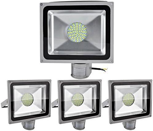 ALPHA DIMA Projecteur 4pcs Projecteur DIMA SMD LED 50W Spot Lampe avec Détecteur de MouveHommes t en Blanc Froid 984e13