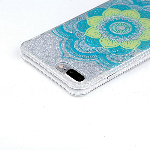 iphone 7 plus Hülle,iphone 7 plus TPU Glitzer-Hülle – Cozy Hut iphone 7 plus Schutzhülle Case Silikon- Bling Shining Crystal Ultra Dünn Durchsichtige Backcover Handyhülle Schutzhülle für iphone 7 plus Datura