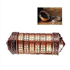 Decdeal Da Vinci Code Mini Cryptex Schlösser Metall Toys Schmuck Versteck Hochzeitsgeschenke Valentinstag Weihnachten Geschenk Passwort Vorhanden