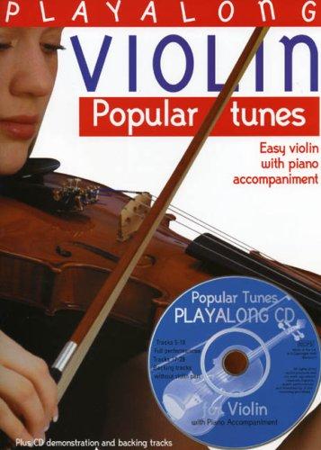 Playalong Violin Popular Tunes (Incl. CD Englische Ausgabe): Sammelband, CD für Violine