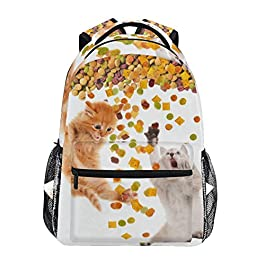 Ahomy, zaino per la scuola per ragazzi e ragazze, divertente gatto che mangia cibo secco, zaino da viaggio, borsa da…