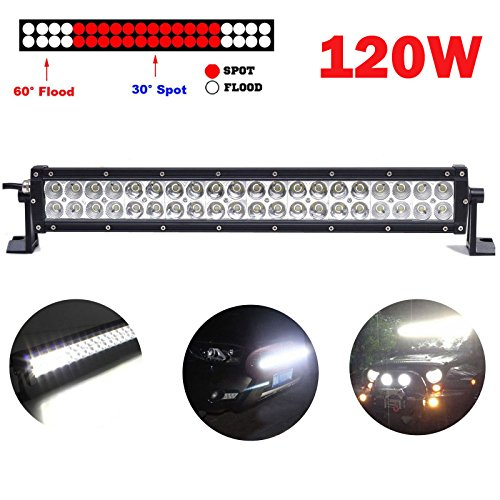 Off Road LED Light Bar Spot/Flood Combo Beam 120 W 12 Volt fahren Lampe für LKW Traktoren Cars Boot Trailer