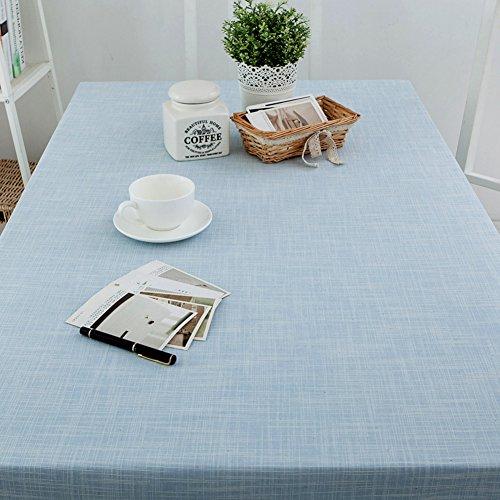 Bbdsj Home tischdecke,Einfarbige tischdecke,LÄndlichen Moderne Landschaft Teetisch Sauber Längliche tischdecke-Leichte Blaue tischdecke-Hellblau blau 80x130cm(31x51inch)