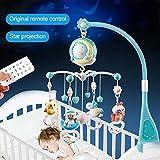 Babybett Crib Mobile mit Lichtern und Musik, Fernbedienung Musical Crib Mobile...