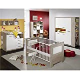 Babyzimmer Moritz 6-teilig eiche sägerau / weiss matt