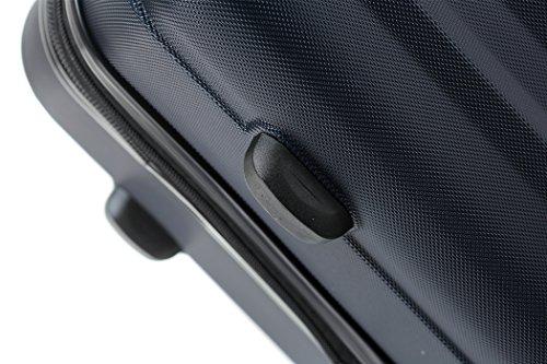 BEIBYE TSA-Schloß 2080 Zwillingsrollen 3 tlg. Reisekofferset Koffer Kofferset Trolley Trolleys Hartschale (Dunkelblau) - 4