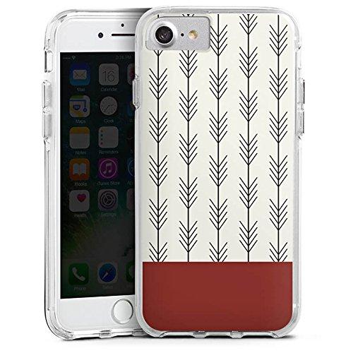 Apple iPhone 8 Bumper Hülle Bumper Case Glitzer Hülle Ethno Pfeile Arrow Bumper Case transparent