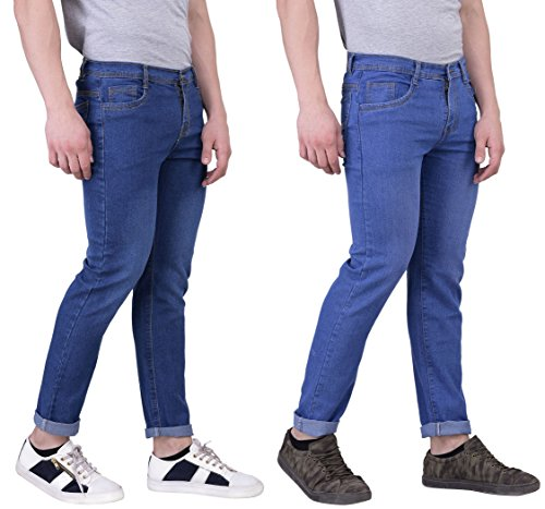 London Looks Men Slim Fit Multi Color Jeans (Combo Of 2) (34)