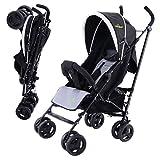 Safeplus Kinderwagen Buggy Sportwagen Reisebuggy Spazierwagen Kinderbuggy Babywagen klappbar schwarz