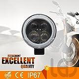 ZHITEYOU 1Pcs Moto 12W Nuovo Modello Super Brightness Moto Lampada Da Lavoro A Led IP67 Luce Da Lavoro Ricaricabile
