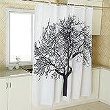 mlsh engrosamiento impermeable cortina de ducha blanca de alta calidad tela de poliéster cortinas de ducha para evitar Moldy con ducha cortinas también puede ser hecho., 180 * 180 cm / 71 * 71 inches