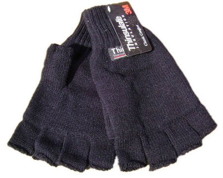 Thinsulate Knitted Fingerless gloves GREY M/L