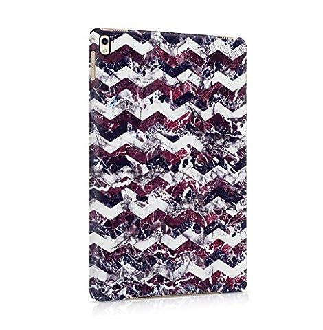 Purple Cherry White Marble Chevron Print Tablet Coque Housse Etui De Protection Plastique Dur Ligne Profil Slim Pour iPad Pro 9.7 Hard Plastic Case Cover