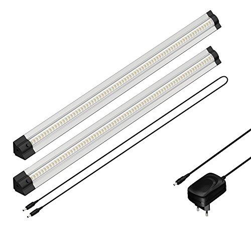 Preisvergleich Produktbild parlat LED Unterbau-Leuchte Siris, Dreieckig, je 50cm, 400lm, Warm-Weiß, 2er Set