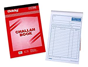 Oddy 1/8 Triplicate Delivery Order/Challan Book, 50 Sheets - Pack of 5