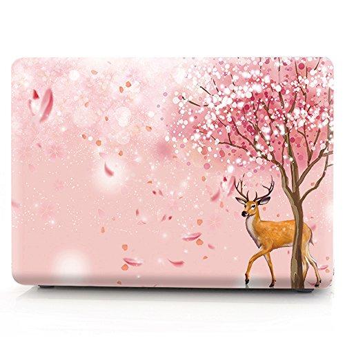 L2W MacBook Air 11 Hülle Zubehör Laptop Plastik Hartschale Tasche Schutzhülle für Apple MacBook Air 11 Zoll Modell A1465/A1370 Sakura - 5