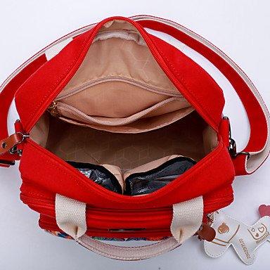 SUNNY KEY-Borsa a tracolla @ Donna Borsa a tracolla Corda Per tutte le stagioni Casual Secchiello Cerniera Nero Rosso , red red