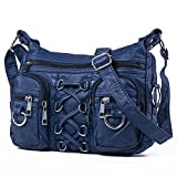 Hengying Washed Leather Shoulder Handbag Cross Body Bag with Lots of Pockets for Women Ladies  - 514onRIA0eL - Hengying Washed Leather Shoulder Handbag Cross Body Bag with Lots of Pockets for Women Ladies