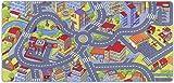 Kinderteppich Spielteppich Straßenteppich Spielmatte Kleinstadt Auto Teppich Kinderzimmer Spielunterlage Verkehrs Teppich für Fußbodenheizung geeignet allergikergeeignet schadstofffrei