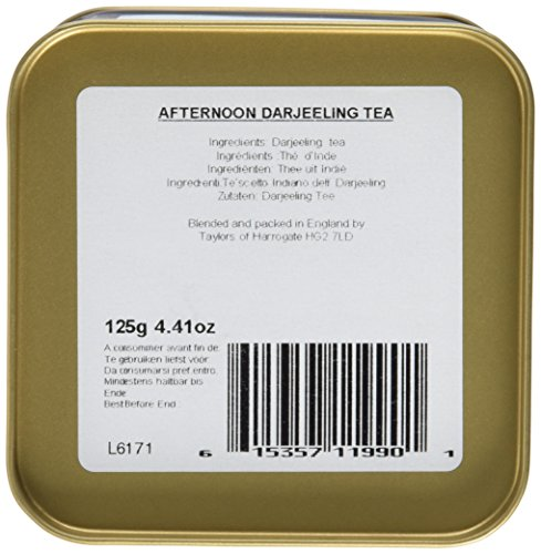 Taylor's of Harrogate Afternoon Darjeeling Leaf Tea 125 g, 1er Pack (1 x 125 g)