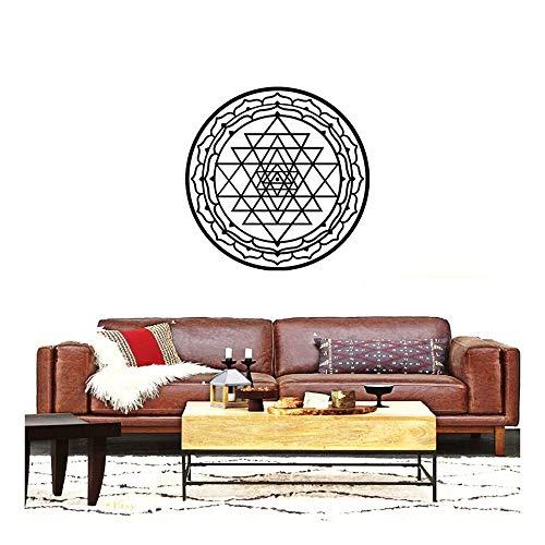 QTZJYLW Kreative Geometrische Dreieck Überlappende Muster Wand Sticks Wohnzimmer Dekoration Abnehmbare Aufkleber (58 × 58 Cm)