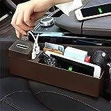 RUIX Accessorio Per Auto Tasca Laterale Organizer Sedile Portaoggetti Porta Di Ricarica USB Da Collezione,Brown
