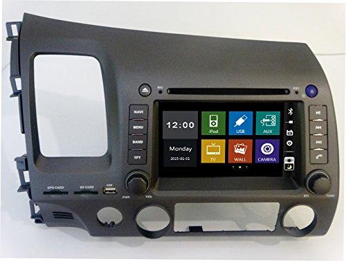 17,8cm-INDASH Auto DVD-Player mit BT/TV, Unterstützung Kamera, Lenkradfernbedienung, USB/SD AUX, Audio Radio Stereo, Car Multimedia Haupteinheit für Honda Civic 200620072008200920102011