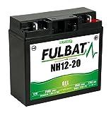 NH 12-20 GEL wartungsfreie Fulbat Gel Batterie, 12Volt 20AH verstärkt Rasentraktor Aufsitzmäher Catelgarden, Solo, Honda, Cooper, Sabo, Sabre, Sentar, Brill, etc.