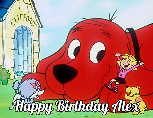 Sweet Custom Cakes Clifford the Big Red Dog Edible Image Photo Cake Topper Sheet Personalized Custom Customized Birthday Party - 1/4 Sheet - 74143 by Sweet Custom Cakes