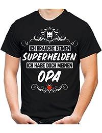 Ich brauche keine Superheld T-Shirt | Großvater | Held | Hero | Freundschaft | Geburtstags | Männer | Herren | Geschenk | Fun | Opa