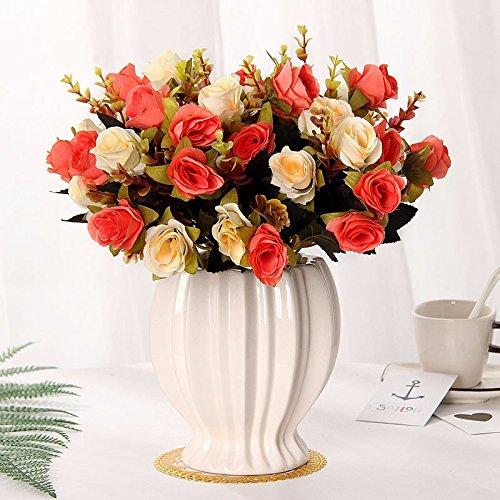 Emulation Blumen rose Seide blumentisch Blumen getrocknete Blumen Dekoration im Wohnzimmer Home Dekoration Pflanzen swing Teil 9