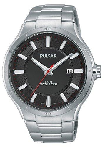 Pulsar eysse-reloj deporte cuarzo analógico de acero inoxidable PS9409X1