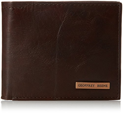 geoffrey-beene-mens-double-billfold-with-polished-plaque-logo-gravel-brn-champaign-one-size
