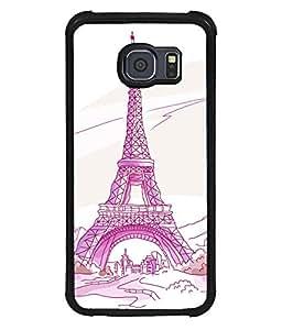 printtech Paris Tower Sketch Cartoon Back Case Cover for Samsung Galaxy S6 Edge::Samsung Galaxy Edge G925