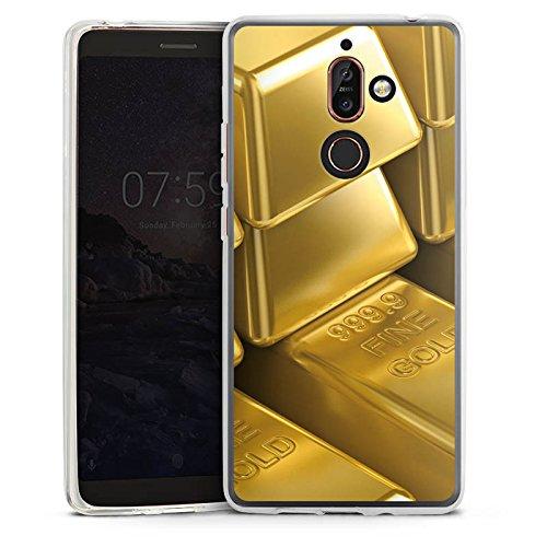 DeinDesign Nokia 7 Plus Silikon Hülle Case Schutzhülle Goldbarren Gold Barren