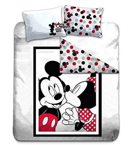 ettwäsche 200 x 200 cm - Mickey & Minnie '100% Baumwolle ()