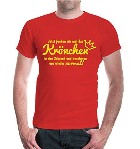 buXsbaum® T-Shirt Jetzt packen wir mal das Krönchen in den Schrank Red-Sunflower