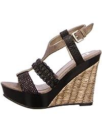 BULLBOXER 282003 BLACK - Sandalias de vestir de Material Sintético para mujer