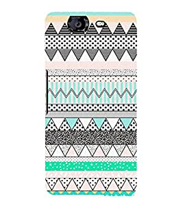 Zig Zag Dots Pattern 3D Hard Polycarbonate Designer Back Case Cover for Micromax Canvas Knight A350