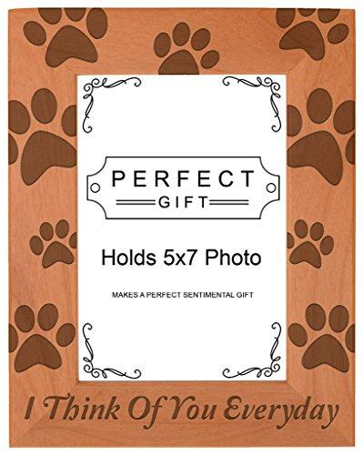 schmerzlichen Verlust Geschenk Verlust von Hund oder Katze Holz natur Gravur Bilderrahmen, holz, holz, 5x7 Vertical (Pet-bilderrahmen 5x7)