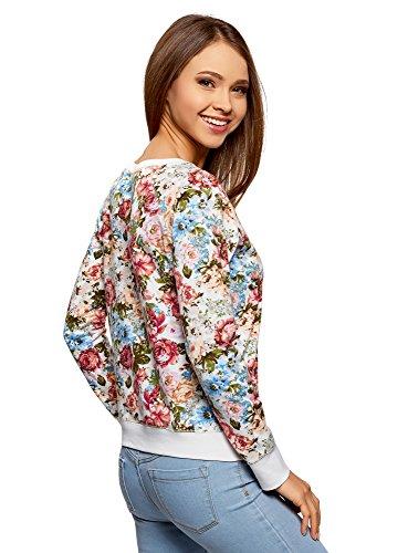 oodji Ultra Femme Sweat-Shirt Basique Imprimé Multicolore (3031F)
