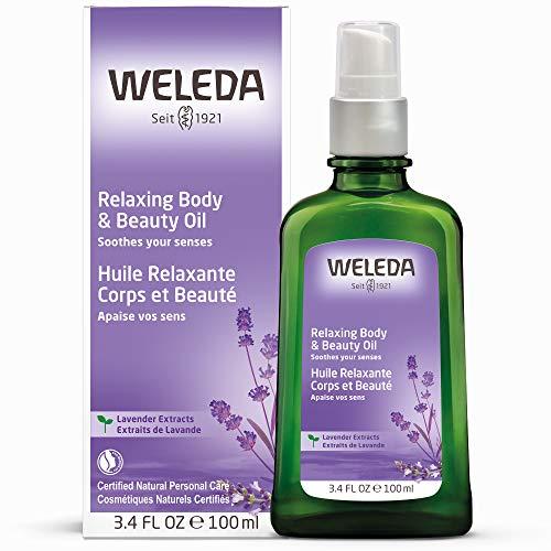 WELEDA Lavendel Entspannungsöl, ätherisches Naturkosmetik Massage- und Körperöl aus Lavendel zur Pflege und Entspannung für den Körper mit angenehmem Duft (1 x 100 ml) -
