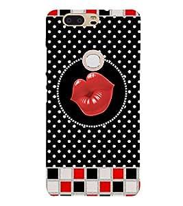 Kisses Clip Art 3D Hard Polycarbonate Designer Back Case Cover for Huawei P8