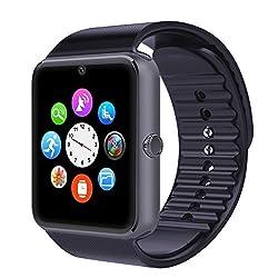 Corado Hill Smart Watch Bluetooth Camera Pedometer Sim Card & Media Card Slots Activity Tracker For All Android Smartphones (Black)