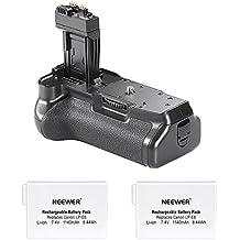 Neewer Pro Empuñadura de Batería (Reemplazo de BG-E8) para Canon EOS 550D/600D/650D/700D Rebel T2i/T3i/T4i/T5i + 2x Reemplazo de Batería LP-E8 7.4V 1140mAh