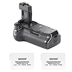 Neewer Pro Battery Grip (Replacement For Bg-e8) For Canon Eos 550d600d650d700d Rebel T2it3it4it5i + 2x 7.4v 1140mah Lp-e8 Replacement Battery